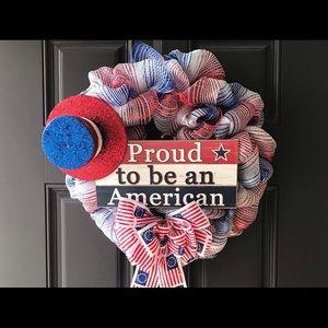 Front Door Patriotic Wreath